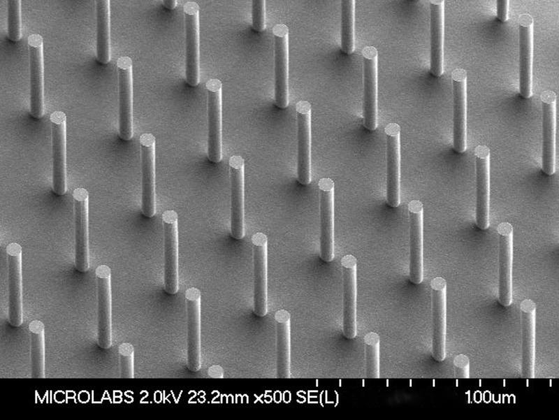 180605 Sensera's 7µm micropillars